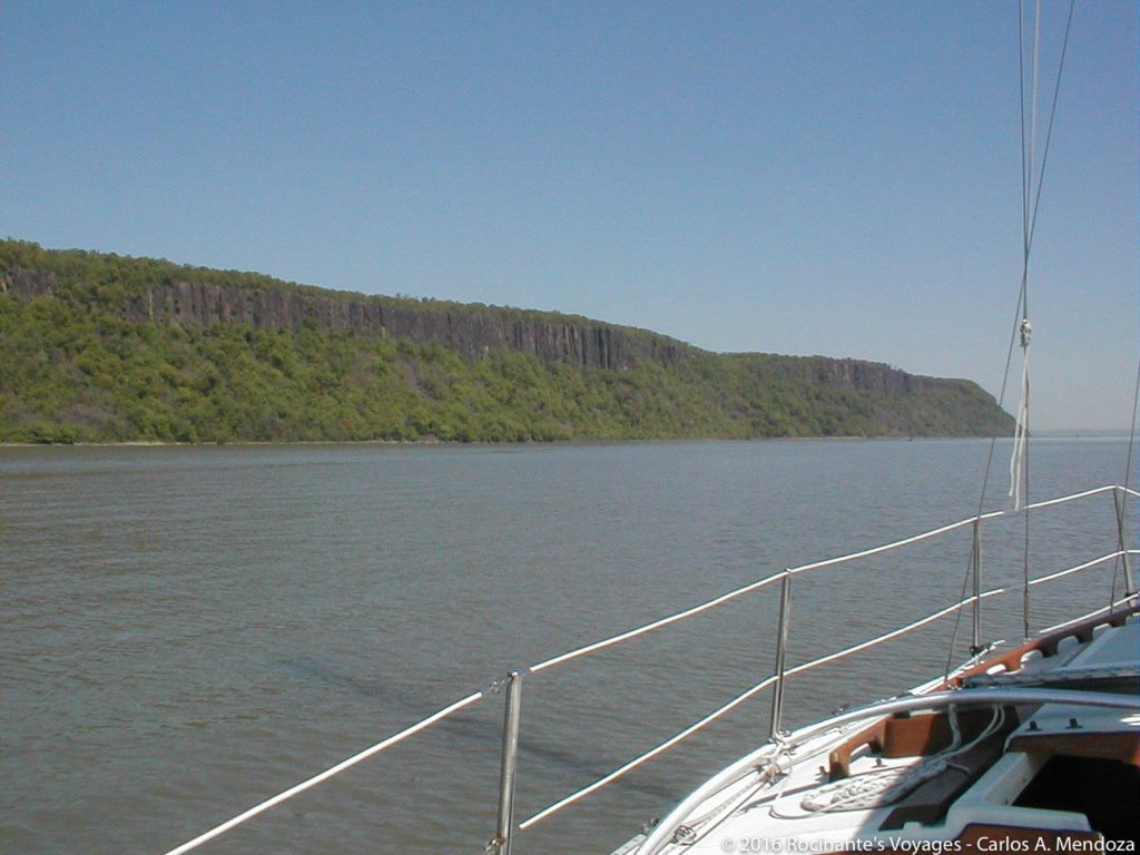 The Palisades off our port bow