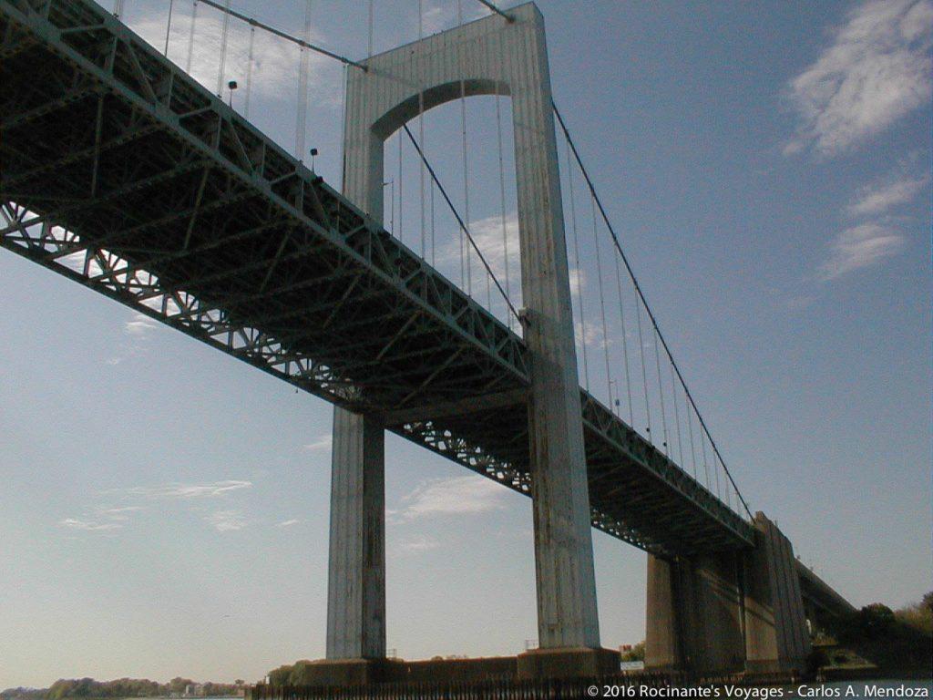 Sailing under the Throgs Neck Bridge