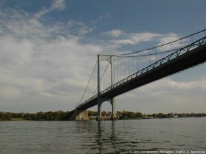 Sailing under the Whitestone Bridge