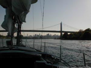 Sailing under the Queensboro bridge