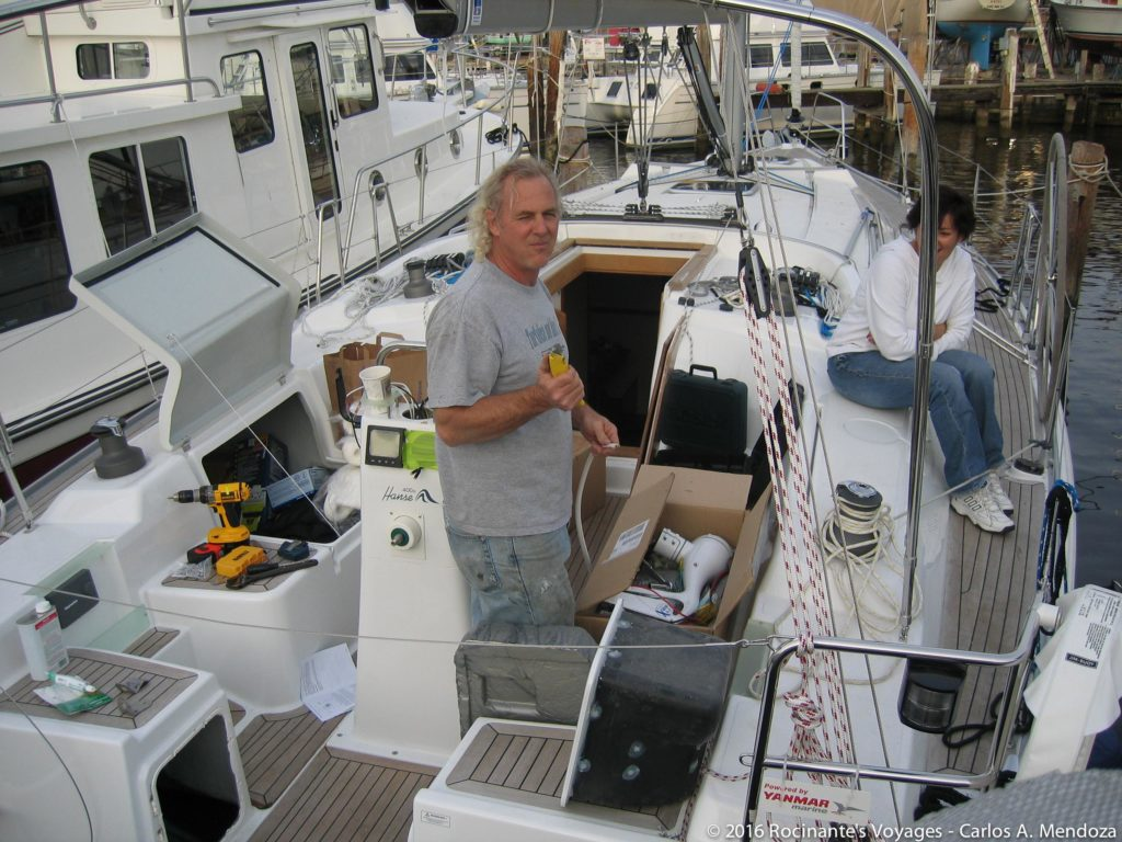 My buddy George, adding a few goodies to our Hanse