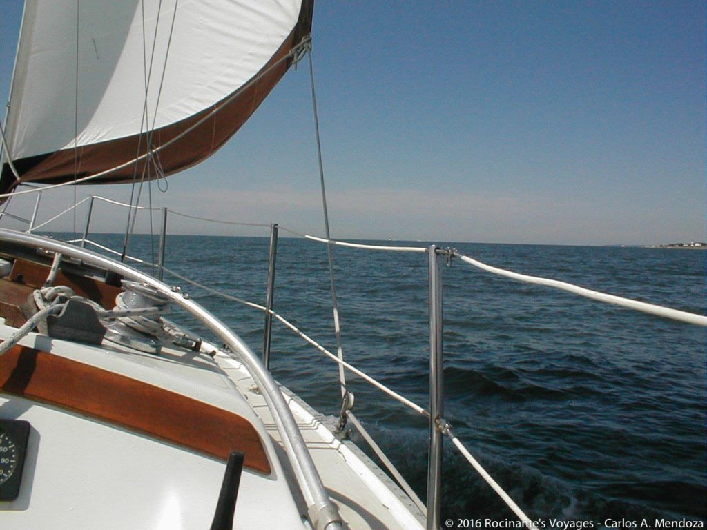 Under sail and heading home!