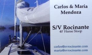 Front of our Boat Cards