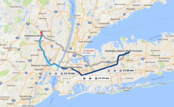 Huntington Station, NY to Hawthorne, NJ