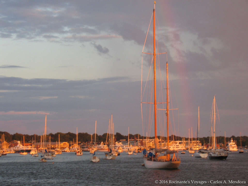 Dual Rainbows over the Newport mooring field
