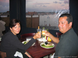 Dinner at Marina Grill - Goat Island, Rhode Island