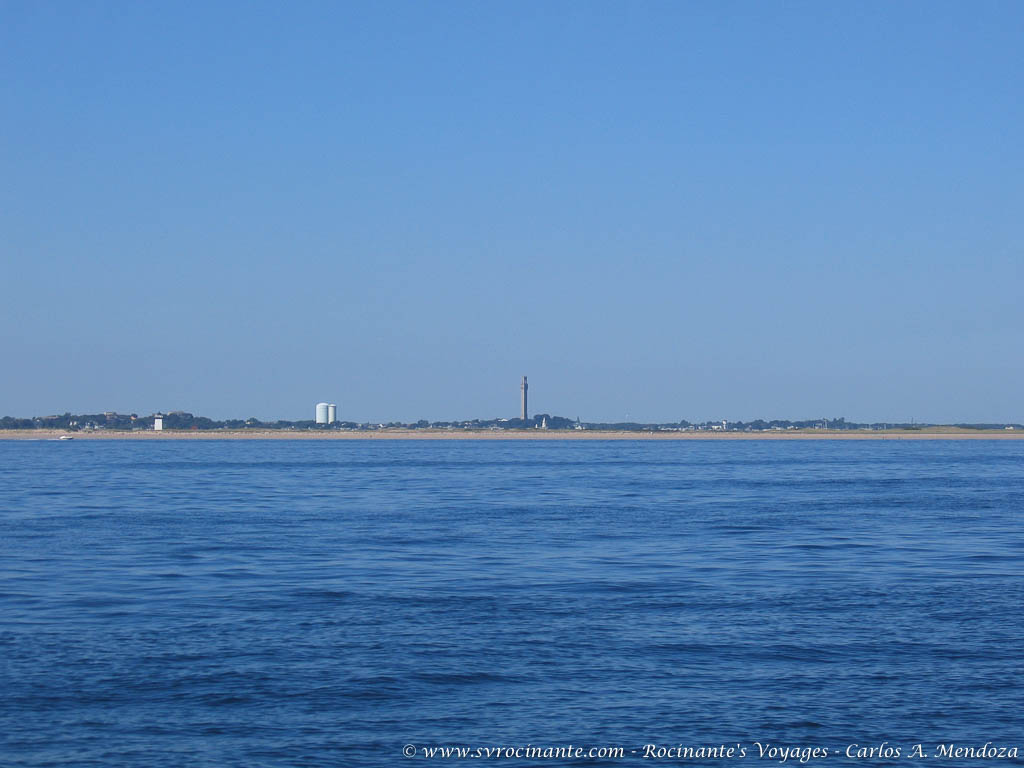 The Pilgrim Monument on our approach to Provincetown, MA